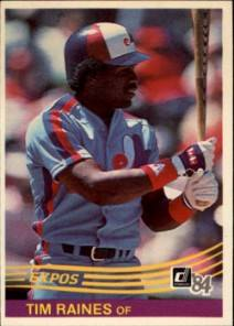 1984 Donruss Tim Raines