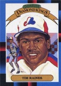 1988 Donruss Diamond Kings Tim Raines