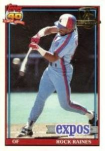 1991 Topps Desert Shield Tim Raines