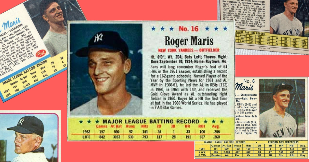 These Roger Maris Baseball Cards Will Make You Smile Wax Pack Gods