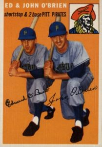1954 Topps Ed and John O'Brien