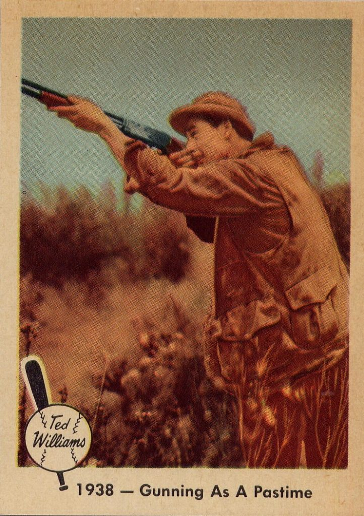 1959-fleer-ted-williams-1938-gunning-as-a-pastime
