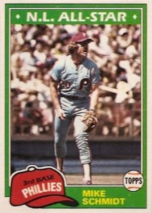 1981 Topps Mike Schmidt (#540)