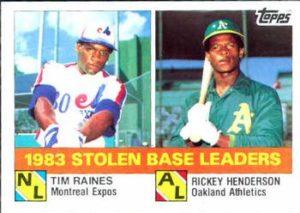 1984 Topps 1983 Stolen Base Leaders