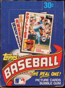 1984 Topps Wax Box