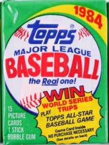 1984 Topps Wax Pack