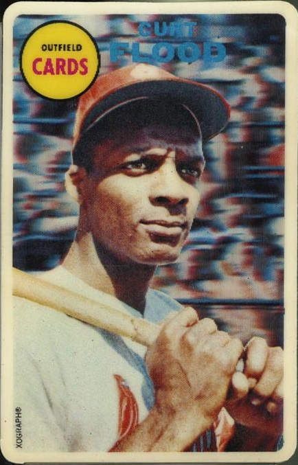 1968 Topps 3 D Curt Flood Was A Baseball And Hobby Crystal