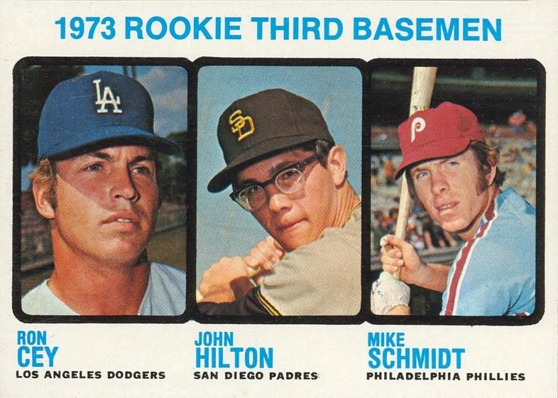 1973 topps mike schmidt ron cey john hilton rookie card