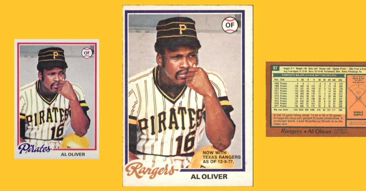 How to Trick Your Dad Into Buying a 1978 O-Pee-Chee Al Oliver Baseball Card