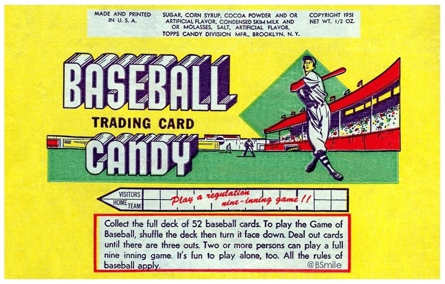 1951 Topps Wrapper Wax Pack Gods