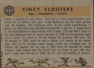 1960 Topps Cincy Clouters (back)