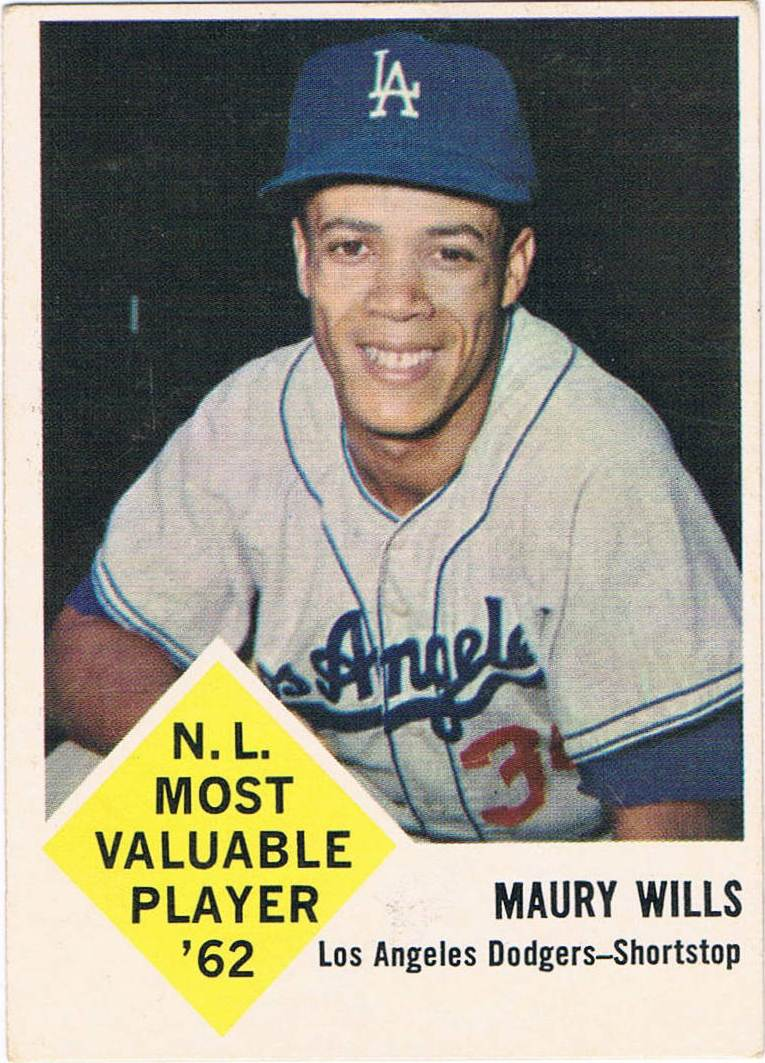 How The 1963 Fleer Maury Wills Baseball Card Set History Righter