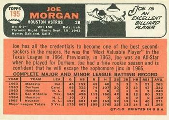 1966 Topps Joe Morgan (back)
