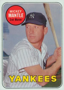 1969 Topps White Letter Mickey Mantle