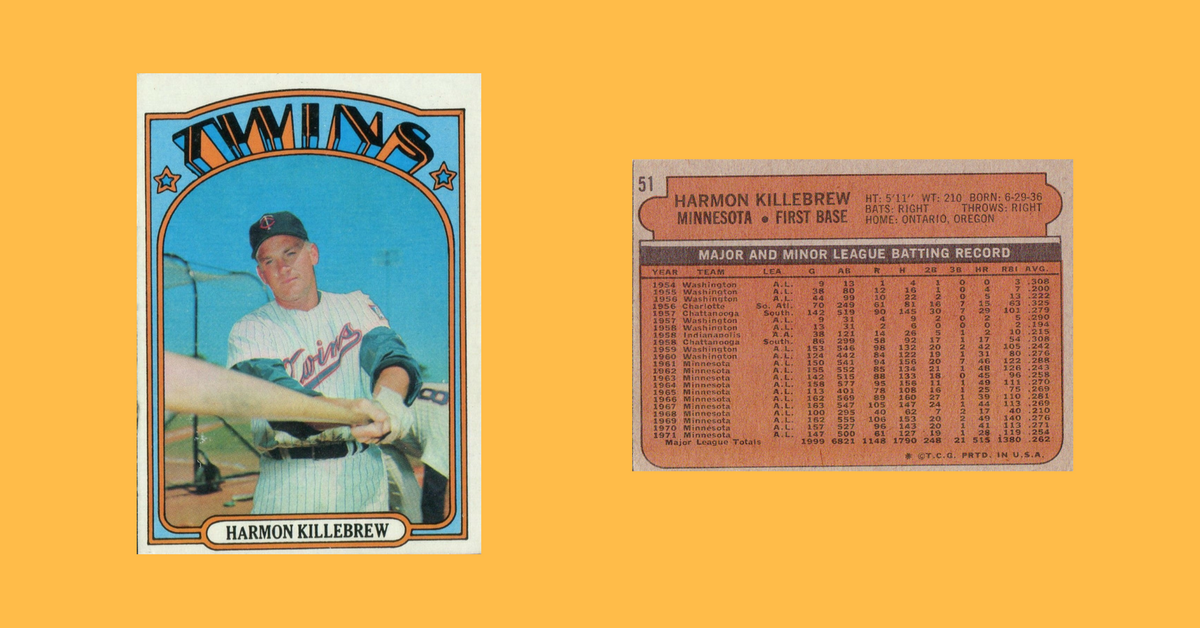 The Best Baseball Card From 1972 Was A Real Killer Wax Pack Gods