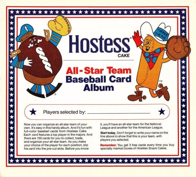 1976 Hostess Baseball Cards Album
