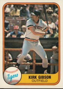 1981 Fleer Kirk Gibson