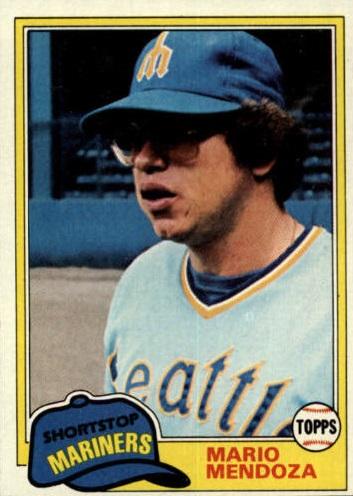 1981 Topps Mario Mendoza