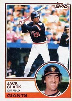 1983 Topps Jack Clark