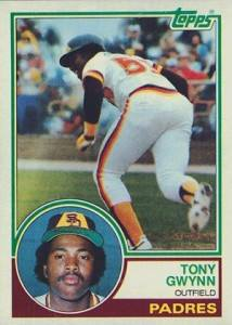 1983 Topps Tony aGwynn rookie card