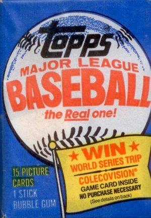 1983 Topps Wax Pack