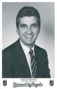 1984 Kansas City Royals Photocards John Schuerholz