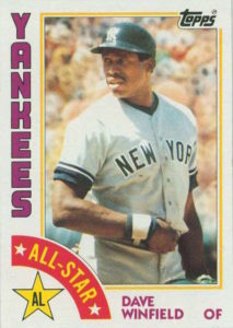 1984 Topps All-Star Dave Winfield