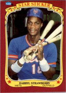 1986 Fleer Star Stickers Darryl Strawberry