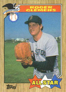 1987 Topps All-Star Roger Clemens