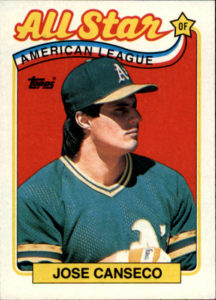 1989 Topps All-Star Jose Canseco