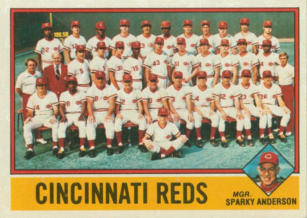1976 Topps Cincinnati Reds Team