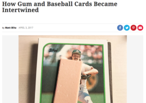 History of Gum and Cards