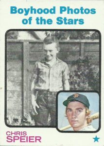 1973 Topps Boyhood Photos of the Stars Chris Speier