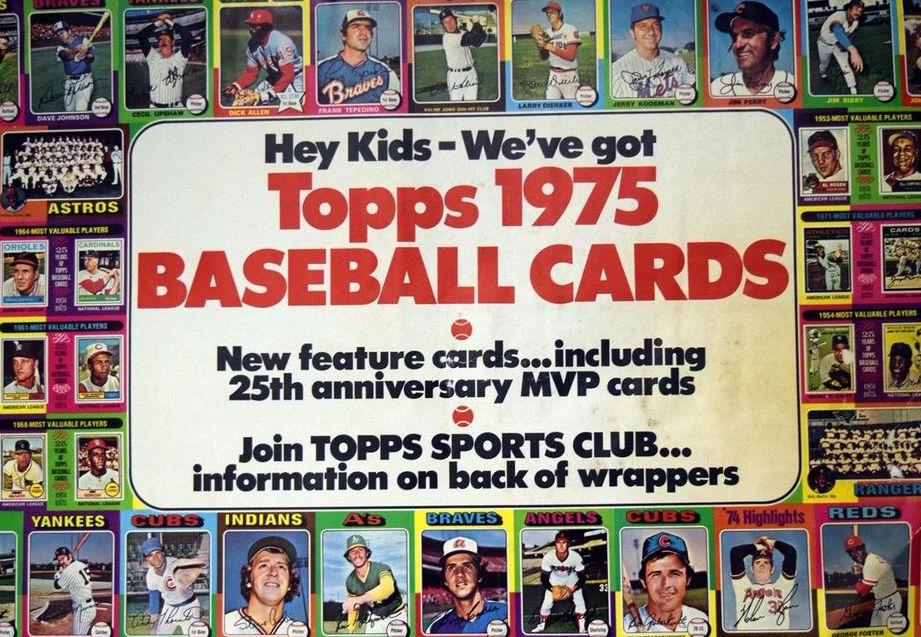 1975 Topps Baseball Advertisement