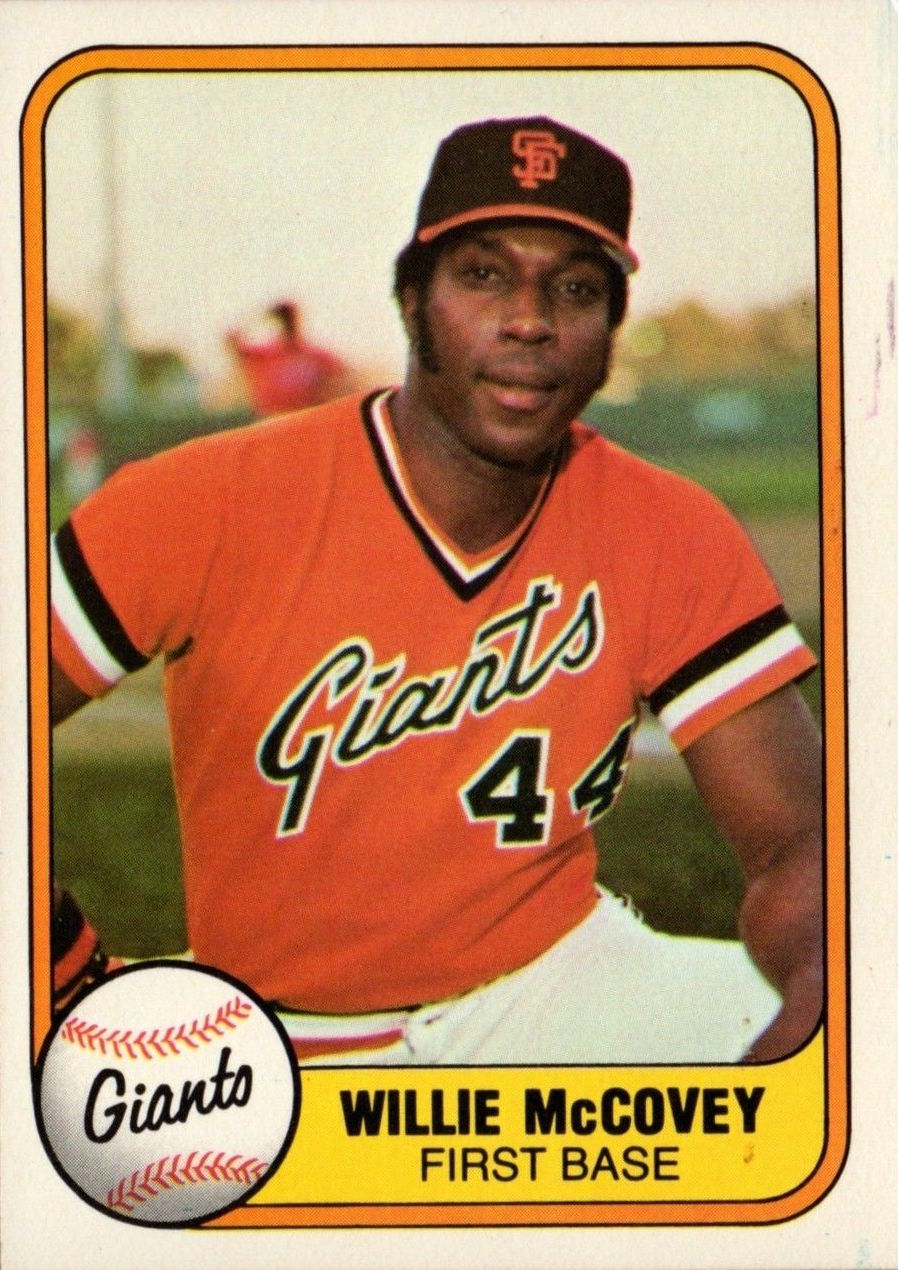 1981 Fleer Willie Mccovey Wax Pack Gods