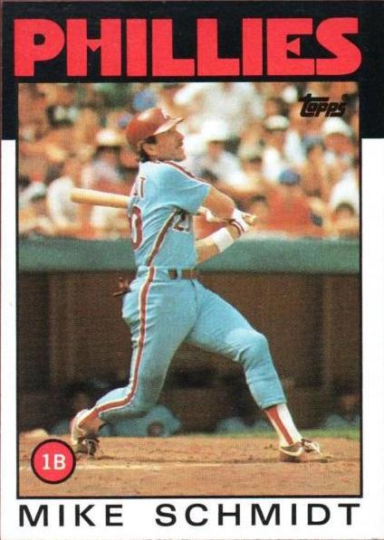 1986 Topps Mike Schmidt
