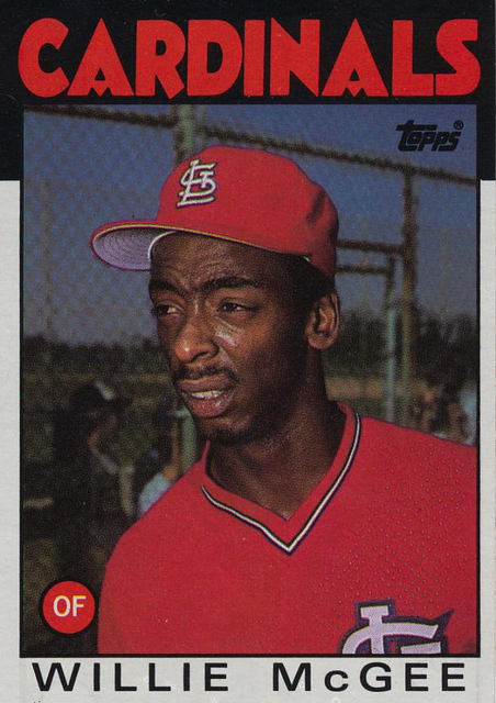 1986 Topps Willie McGee