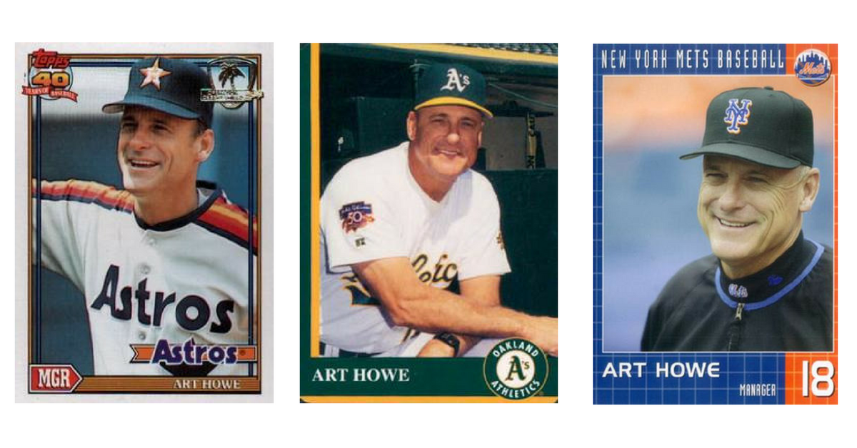 Art Howe Manager Cards