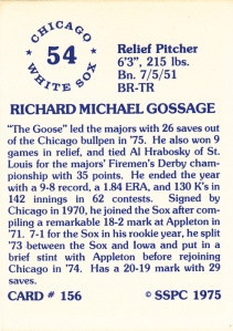 1976 sspc goose gossage (back)