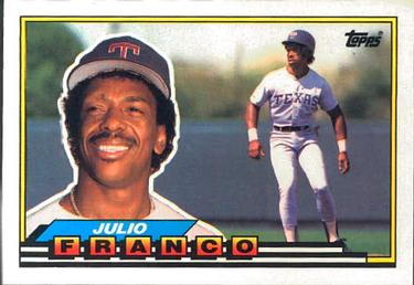1989 Topps Big Julio Franco