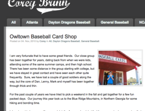 Owltown Baseball Cards