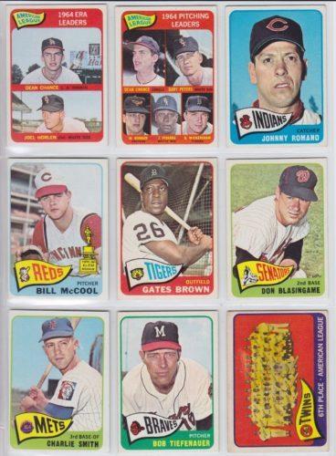 1965 Topps Baseball Cards