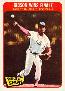 1965 topps gibson wins finale