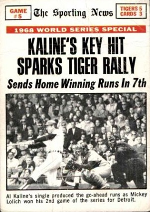 1969 topps Kaline's Key Hit Sparks Tiger Rally