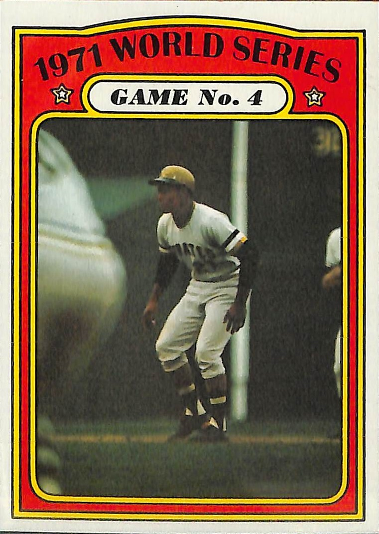 1972 topps roberto clemente world series
