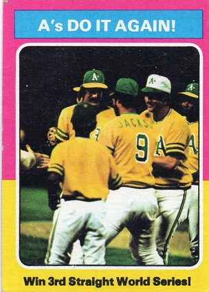 1975 Topps As do it again World Series