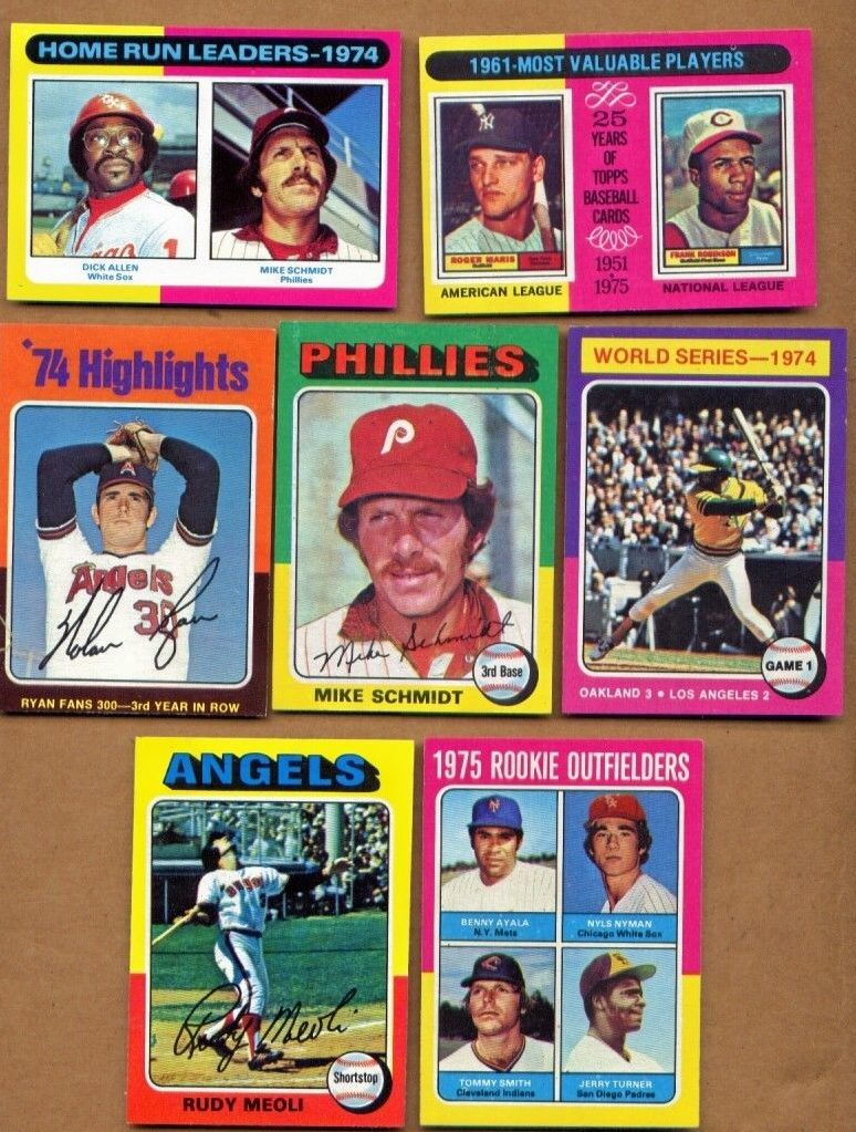1975 Topps baseball cards lot