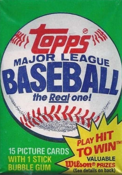 1981 Topps Baseball Cards Wax Pack