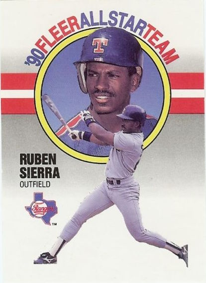 1990 Fleer All-Star Ruben Sierra