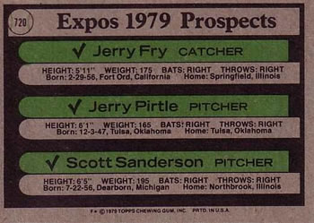 1979 Topps Jerry Pirtle (Gerry Pirtle) (back)